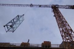 1122.asg Einheben verglaster Turm