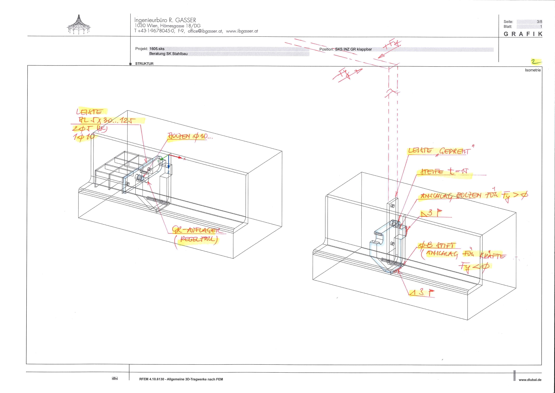 Stahl Glas Dipl Ing Robert Gasser Sks Schematic 1705sks Inz Axonometrie Klapp Gitterrost