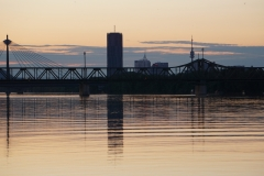 Vienna DC Tower at dawn