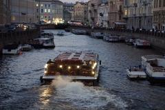 Boatride on Neva channel