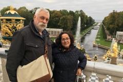Peterhof, overlooking the fountain