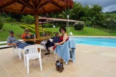 pool talk with Marta and Leonardo