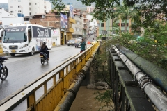 Bridge Rojas Pinilla over Fonce river