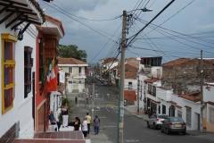 outside El Zaguán