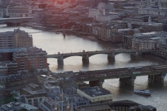 the Thamse bridges from above
