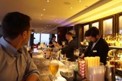 at the bar, 53rd floor