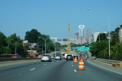 up-town Charlotte ahead
