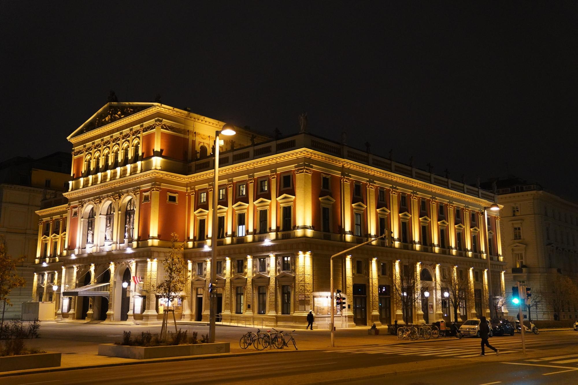 El famoso Musikverein  del cual se transmite anualmente  el concierto del año nuevo