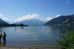 Next Day:  Visiting Lake Zell  ( made some years ago by a glacier )
