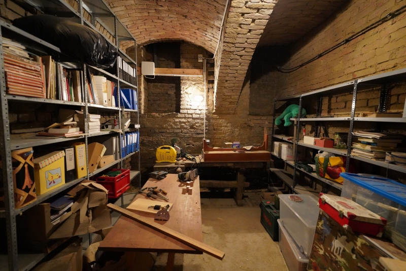 my workshop in the basement