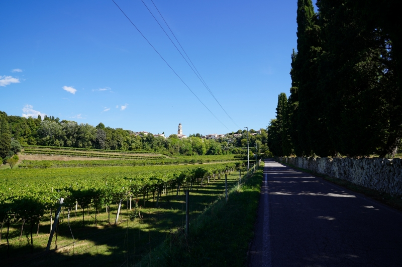 Approaching Castelrotto  ( broken castle) from the south