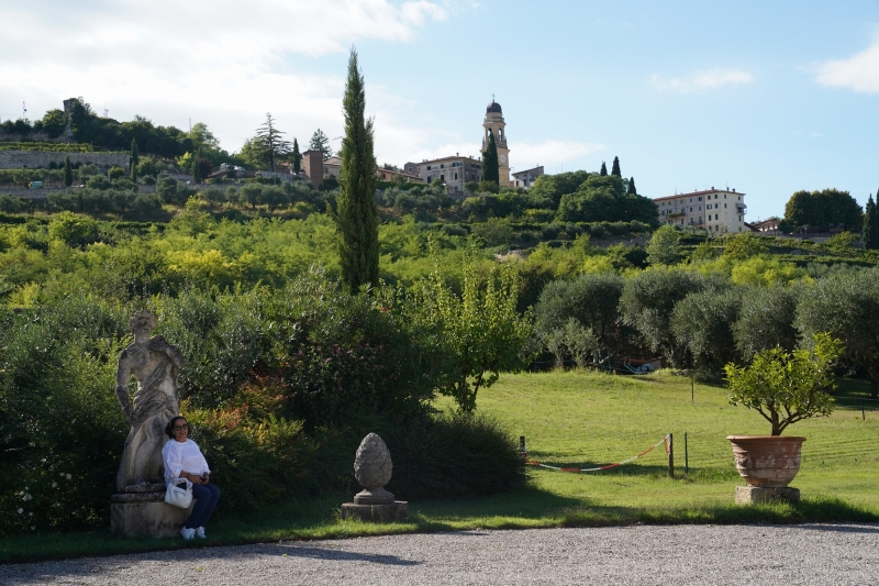 looking back from Villa Giona to Casterotto ( finally arrived... ready for a beer )