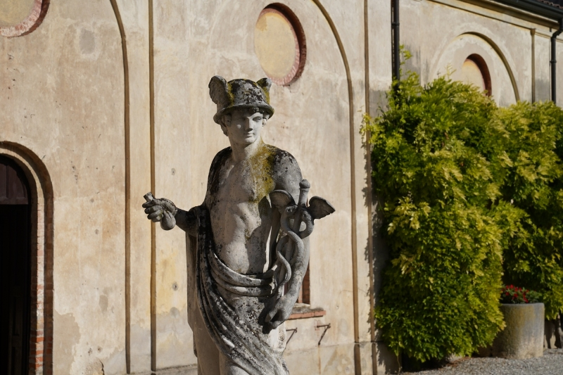 Hermes, Zeus´ messenger,  the statue, as you see it, is at least 20 years old, maybe less ;-)