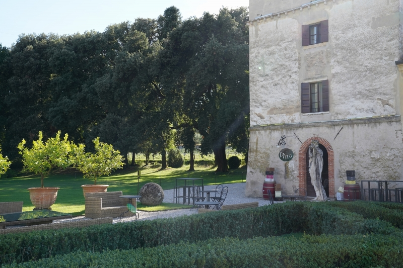 Wine bar at Villa Giona tower