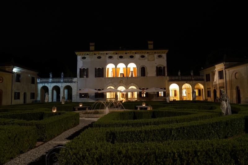 Villa Giona at night