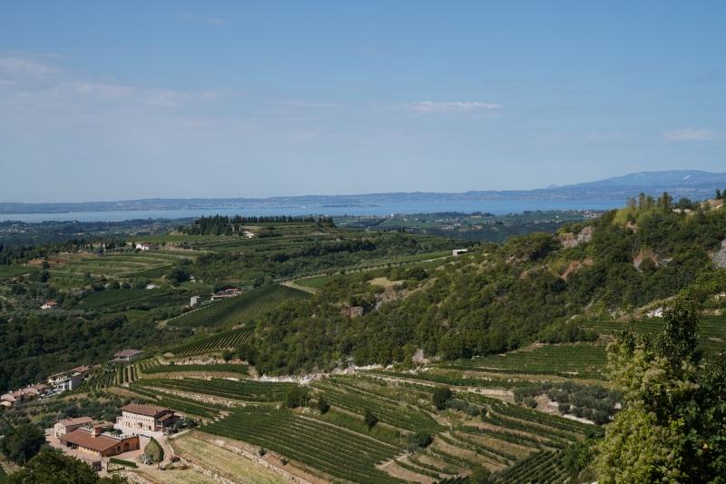 walking up to San Giorgio, view west to lake Garda