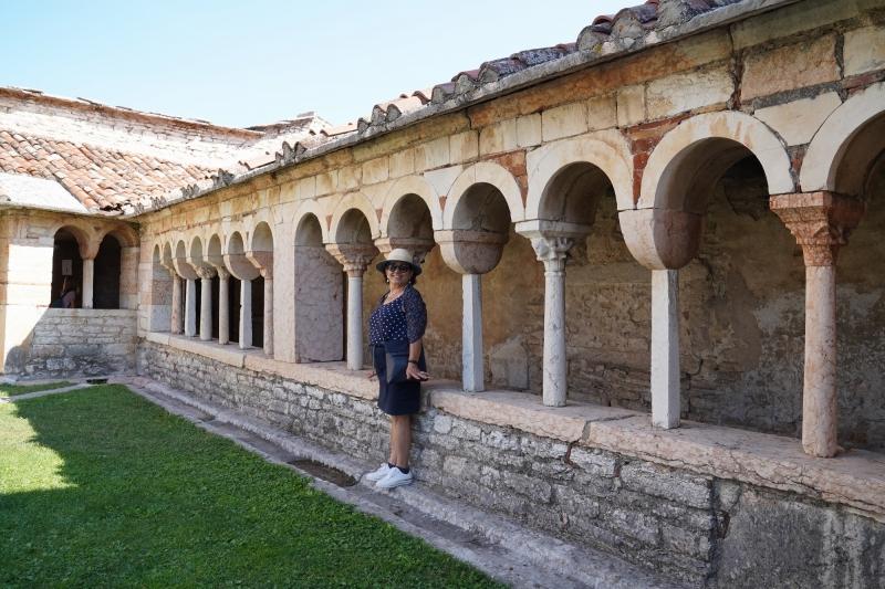 patio with austrian tourist