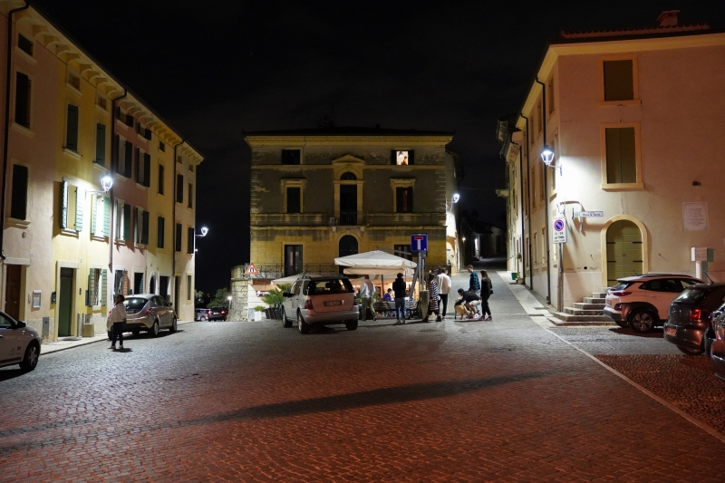 Plaza at Castelrotto at 11 pm