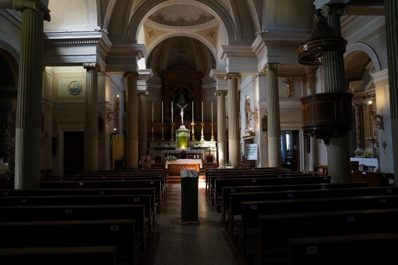 "Castelrotto church ""San Ulderico"" , inside"