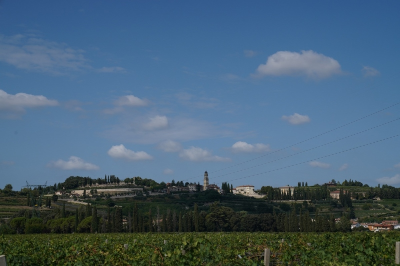 looking back to Castelrotto hill