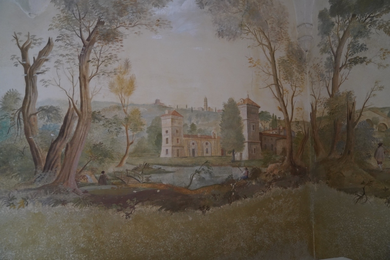 original Frescos in Villa Giona  ( ca. 1700 )