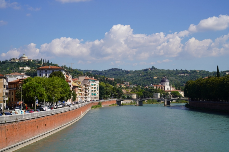 Garibaldi bridge and San Giorgio church