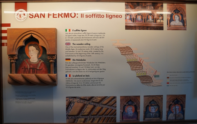 San Fermo - upper church, information about the ceiling