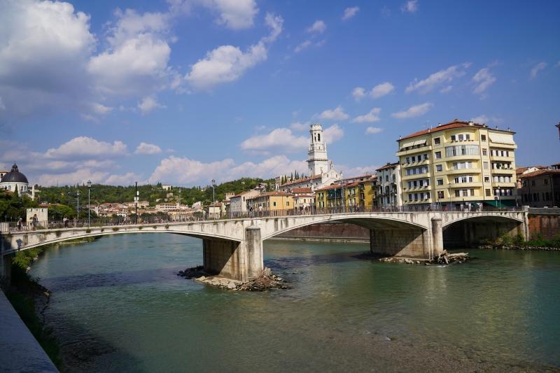 Garibald bridge and the Dome of Verona