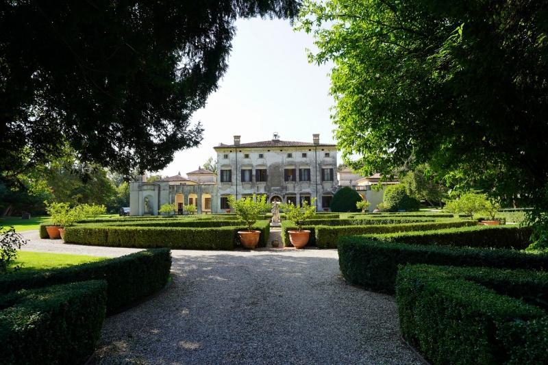 Villa Giona seen from the back entrance