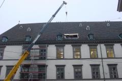 314.stb Einbau Haustechnikzentrale Dachstuhl Stallburg