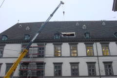 314.stb Einheben Stahlträger durch Dachöffnung