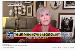 2020-10-12 Cementarily Jane Fonda thinks CoVid isGod´s gift to the  Left, any questions ?