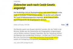 2020-11-24  Einbruch doch kein Ausnahmegrund für CoV-Ausgangssperre und schon gar nicht für österr. StaatsbürgerInnen