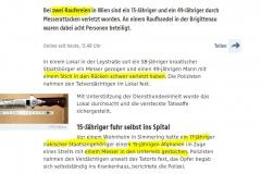 2021-07-17  wär´ der Täter Österreicher und das Opfer eine Frau, wär´s keine Rauferei gewesen, sondern versuchter Femizid