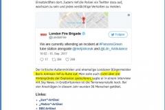 2017-09-15 Londonistan ...bitte, nur nicht spekulieren ( PolitikerInnen meiden nun sicherheitshalber die U-Bahn )