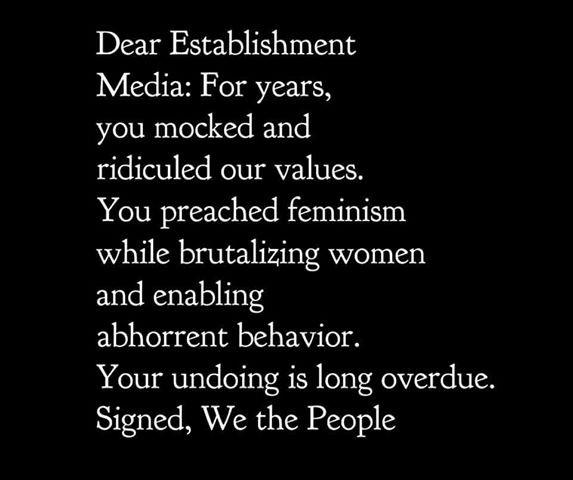 Dear establishment media...