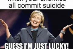 Hillary-lucky